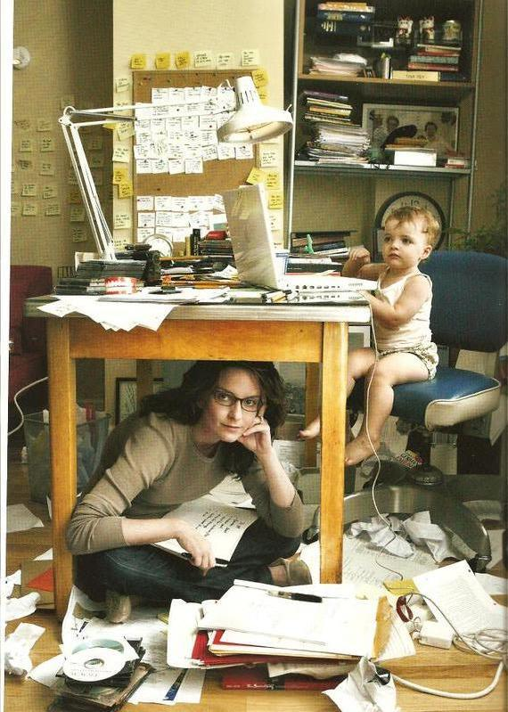I love this picture. It basically sums up everything I've ever written about writing/mothering.