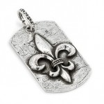 sterling-silver-hammer-finish-fleur-de-lis-dog-tag-3